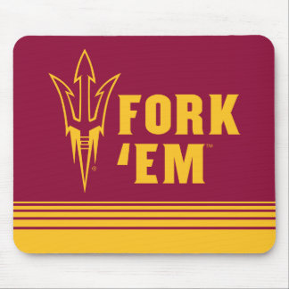 Arizona State Fork 'Em | Stripes Mouse Pad