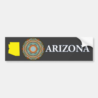 Arizona State Mandala Bumper Sticker