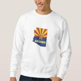 Arizona State Map and Flag Sweatshirt