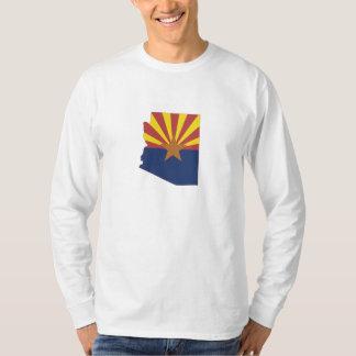 Arizona State Map and Flag T-Shirt