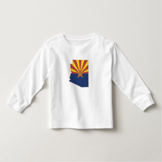 Arizona State Map and Flag Toddler T-shirt