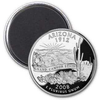 Arizona State Quarter 2 Inch Round Magnet