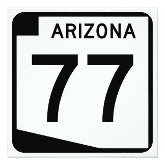 Arizona State Route 77 Card