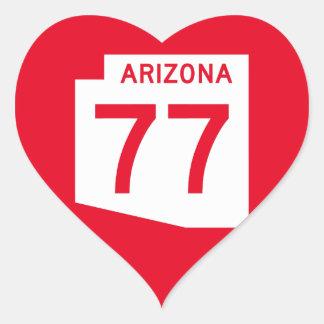 Arizona State Route 77 Heart Sticker