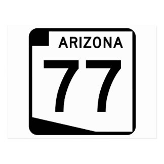 Arizona State Route 77 Postcard