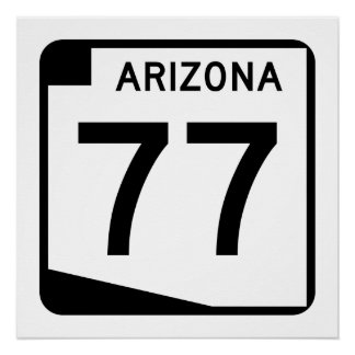 Arizona State Route 77 Poster