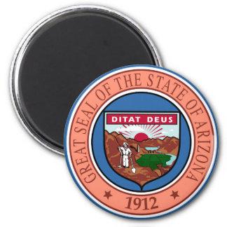 Arizona State Seal 2 Inch Round Magnet