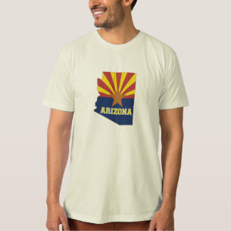 Arizona State Shaped Flag T-Shirt