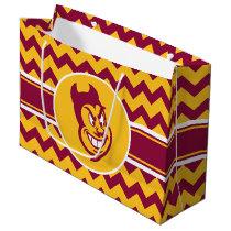 Arizona State Sparky | Chevron Pattern Large Gift Bag
