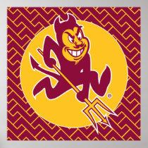 Arizona State Sparky | Fret Pattern Poster