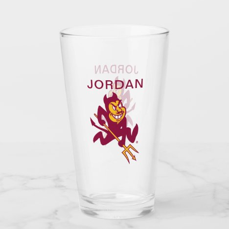 Arizona State Sparky Glass