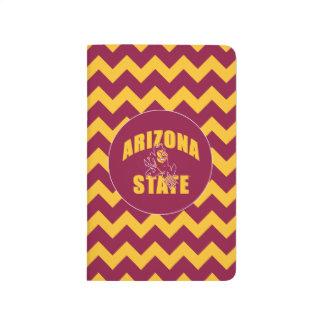 Arizona State Sun Devil | Chevron Pattern Journal