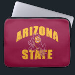 "Arizona State Sun Devil | Distressed Computer Sleeve<br><div class=""desc"">Check out these new Arizona State University designs! Show off your ASU Sun Devil pride with these new Arizona State products. These make perfect gifts for the Sun Devils student, alumni, family, friend or fan in your life. All of these Zazzle products are customizable with your name, class year, or...</div>"