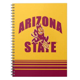 Arizona State Sun Devil   Stripes Notebook