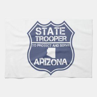 Arizona State Trooper To Protect And Serve Hand Towel
