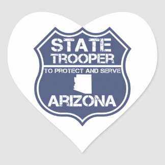 Arizona State Trooper To Protect And Serve Heart Sticker