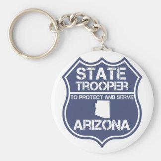 Arizona State Trooper To Protect And Serve Keychain