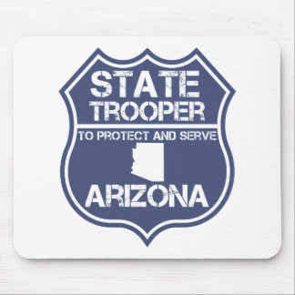 Arizona State Trooper To Protect And Serve Mouse Pad
