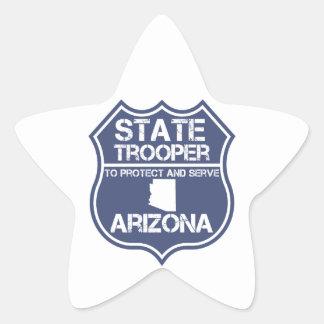 Arizona State Trooper To Protect And Serve Star Sticker