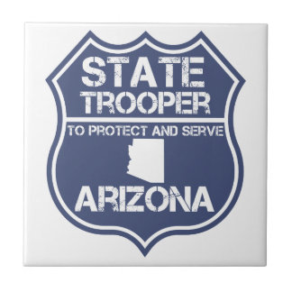 Arizona State Trooper To Protect And Serve Tile