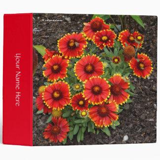 Arizona Sun Blanketflowers 3 Ring Binder