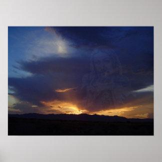 Arizona Sunset 19 Christ Poster