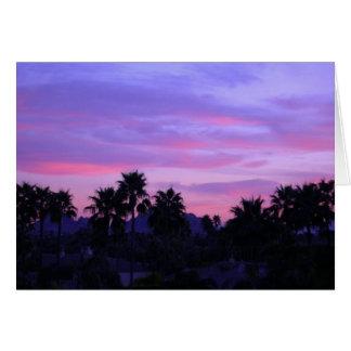 Arizona Sunset Blank Greeting Card