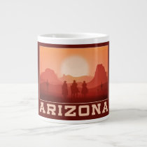 Arizona Sunset custom monogram jumbo mug