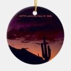 Arizona / Sunset in Sabino Canyon Ceramic Ornament