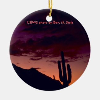 Arizona / Sunset in Sabino Canyon Ceramic Ornament