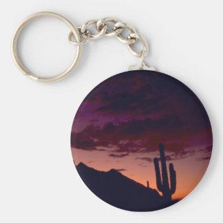 Arizona / Sunset in Sabino Canyon Keychains
