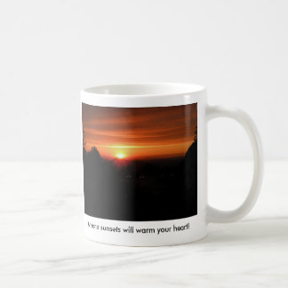 Arizona sunsets will warm your heart on a cold day classic white coffee mug