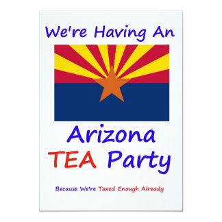 ARIZONA T.E.A. PARTY INVITATIONS
