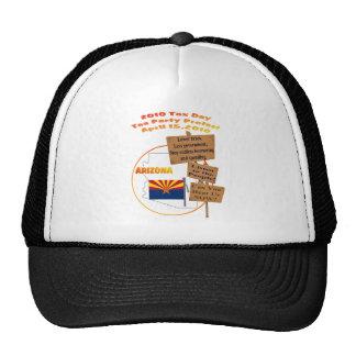 Arizona Tax Day Tea Party Protest Baseball Cap Trucker Hats