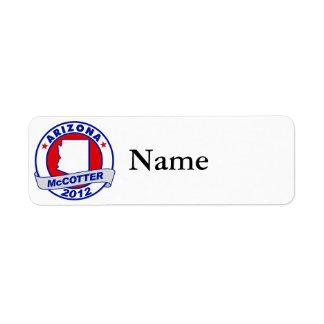 Arizona Thad McCotter Label