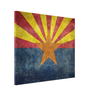 Arizona, the 48th state Flag Canvas Print