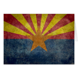 Arizona, the 48th state Flag Card