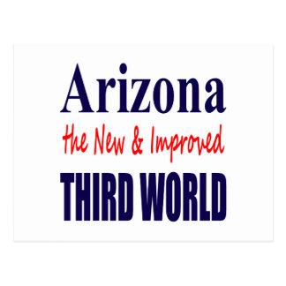 Arizona the New & Improved THIRD World Postcard