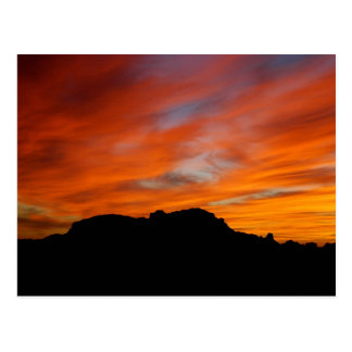 Arizona Tonopah Saddle Mt Sunset Postcard