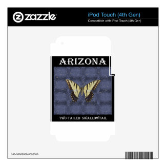 Arizona Two tailed Swallowtail Butterfly Decals For iPod Touch 4G