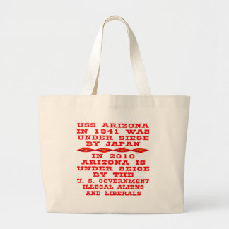 Arizona Under Siege By Federal Government 02 Canvas Bag