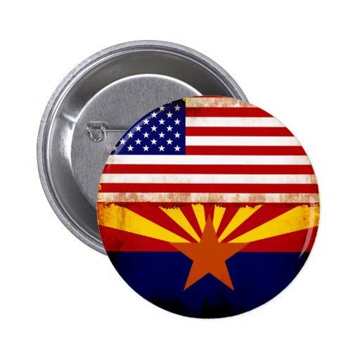 Arizona USA Flags Pinback Buttons