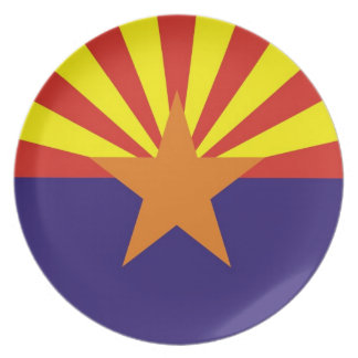 arizona usa state flag plate america