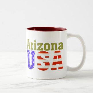 Arizona USA! Two-Tone Coffee Mug