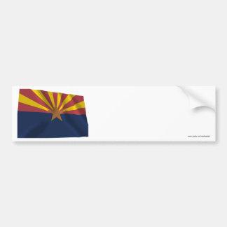 Arizona Waving Flag Bumper Sticker