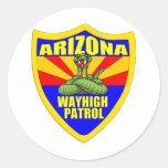 Arizona Wayhigh Patrol Classic Round Sticker