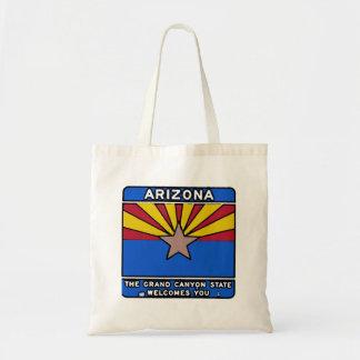 Arizona welcome sign reusable bag