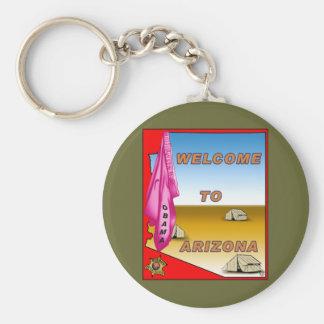 Arizona Welcomes Obama Basic Round Button Keychain