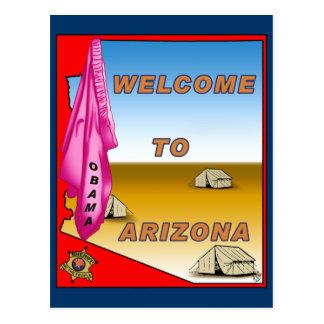 Arizona Welcomes Obama Postcard