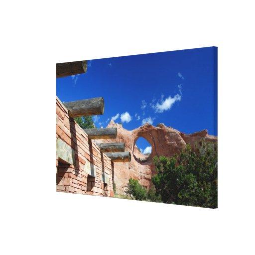 Arizona, Window Rock. Capital of the Navajo Canvas Print